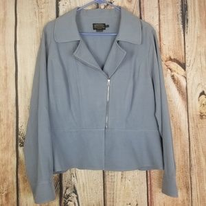 Pendleton Womens Blue Gray-ish 100% Silk Blazer